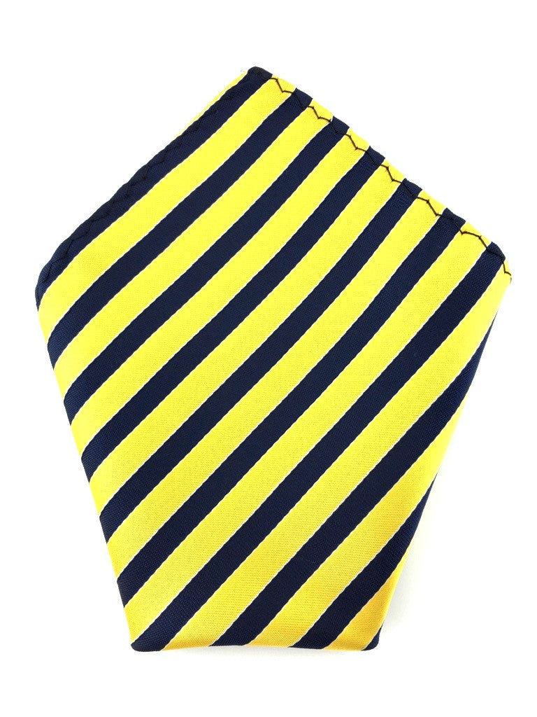 Yellow and Blue Stripes Pocket Square