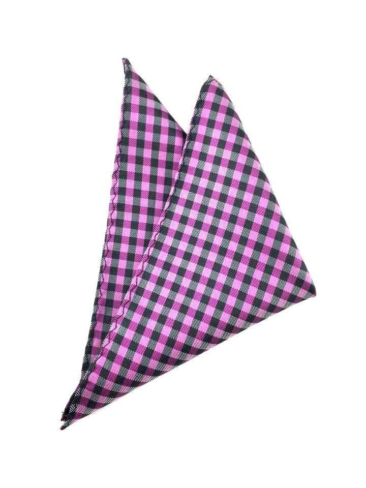 grooms checkered pocket square
