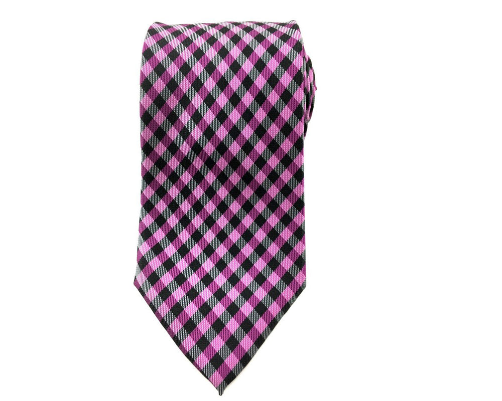 purple gingham ties