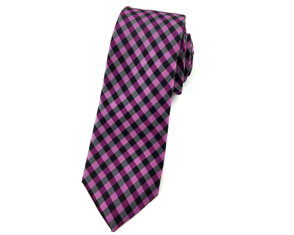purple gingham tie