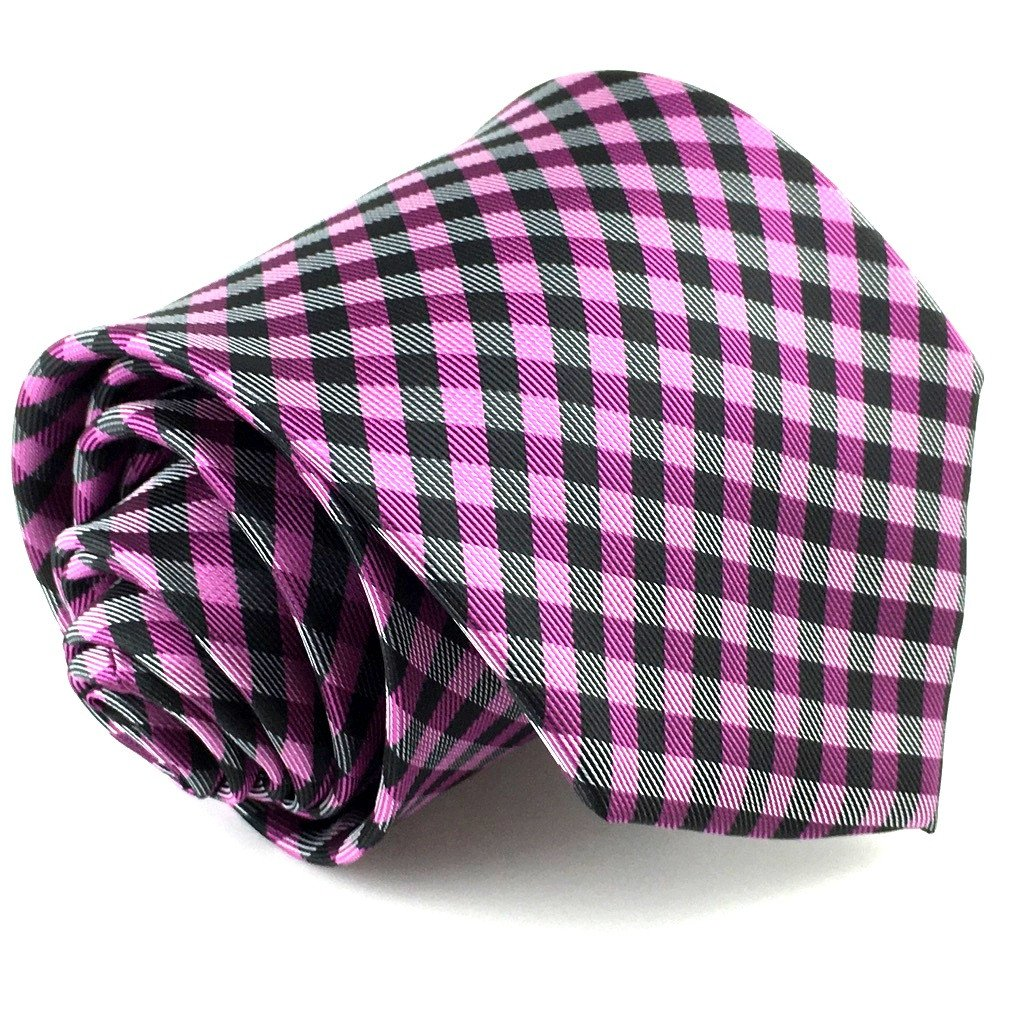 checkered neck tie