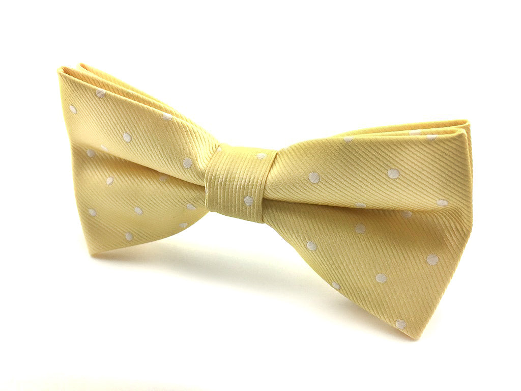 yellow wedding bowtie