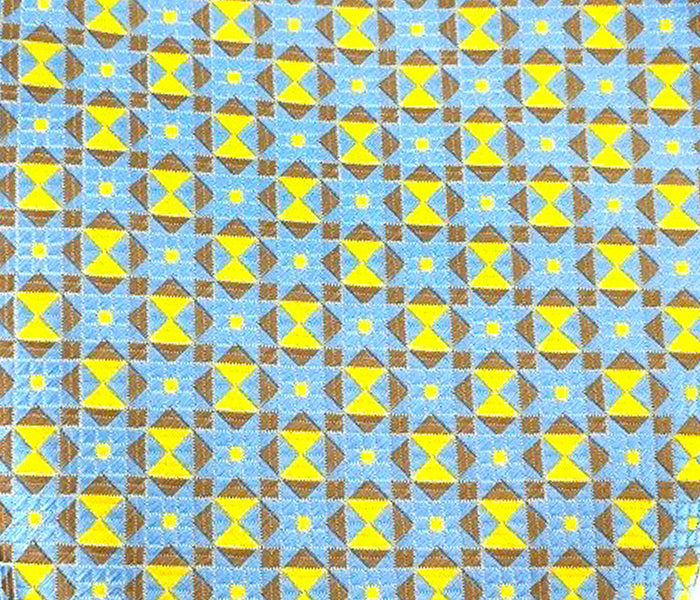 yellow brown blue swatch