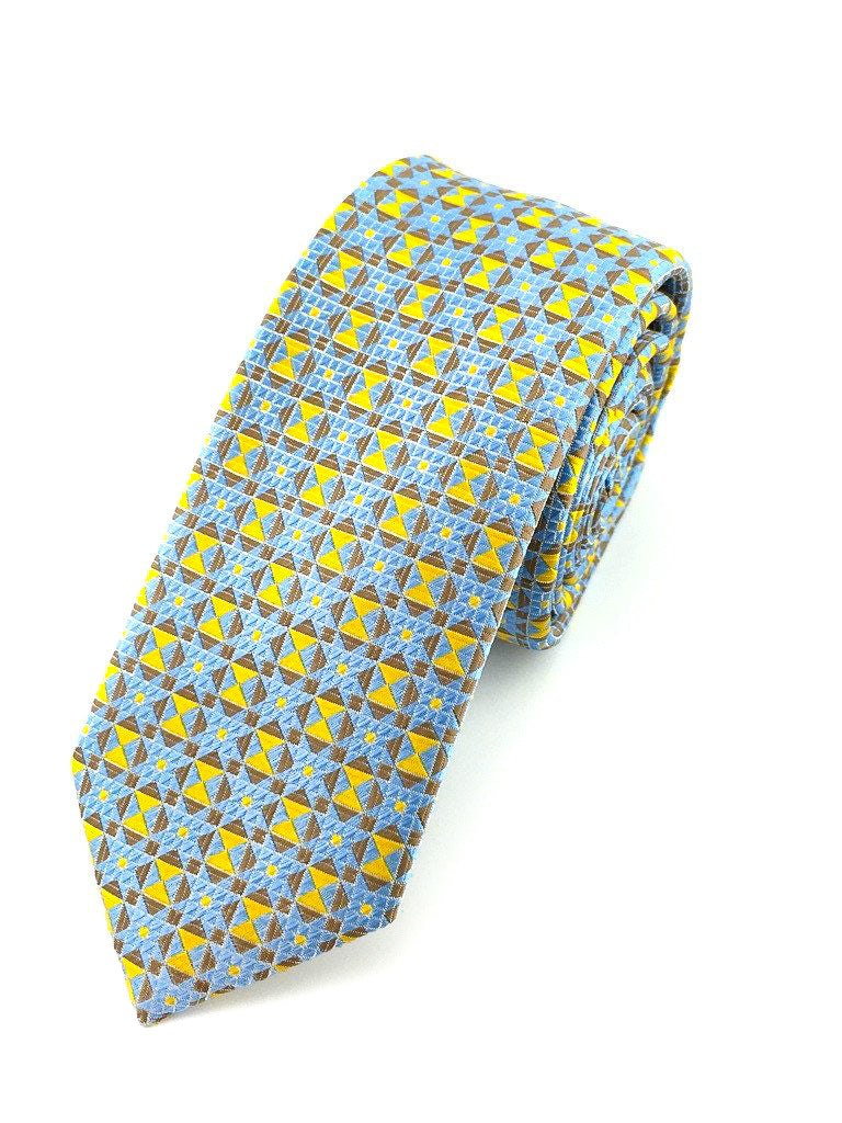 patterned slim necktie