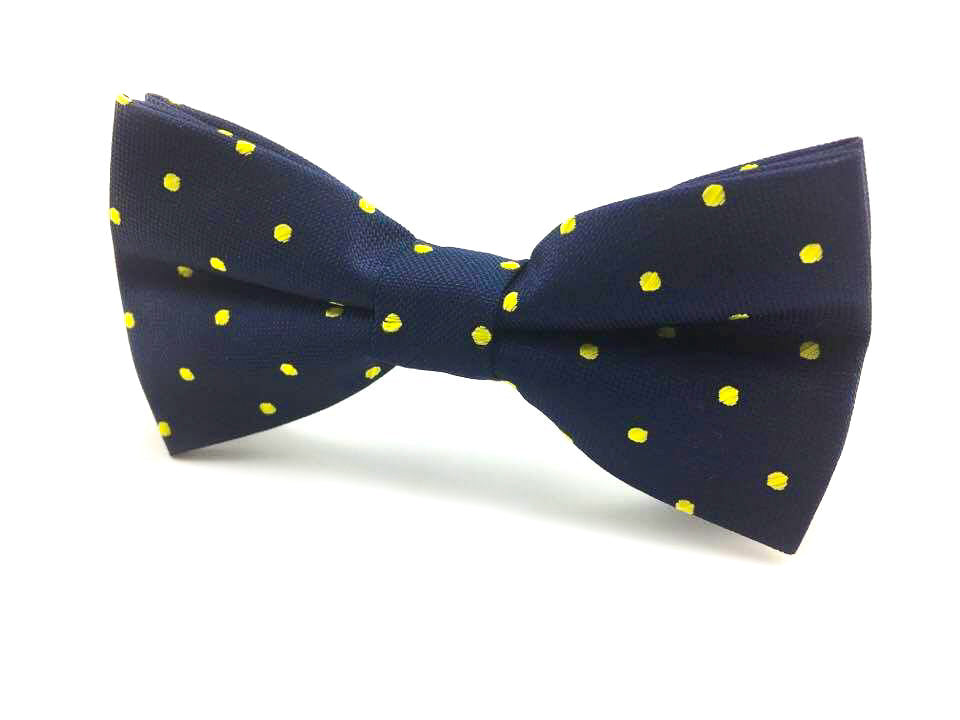 yellow dots bowtie