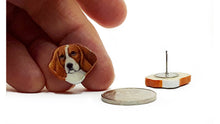 Load image into Gallery viewer, Beagle Earrings : Small Post, hand painted