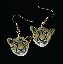 Load image into Gallery viewer, Cheetah Earrings, Dangle Style, 1 inch