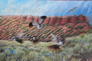 "Original Wildlife Painting ""Hoodoo View"""