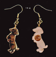Load image into Gallery viewer, Dachshund Red Earrings