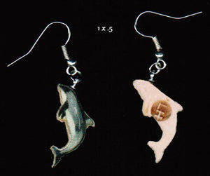 Dolphin Earrings. White-sided dolphin