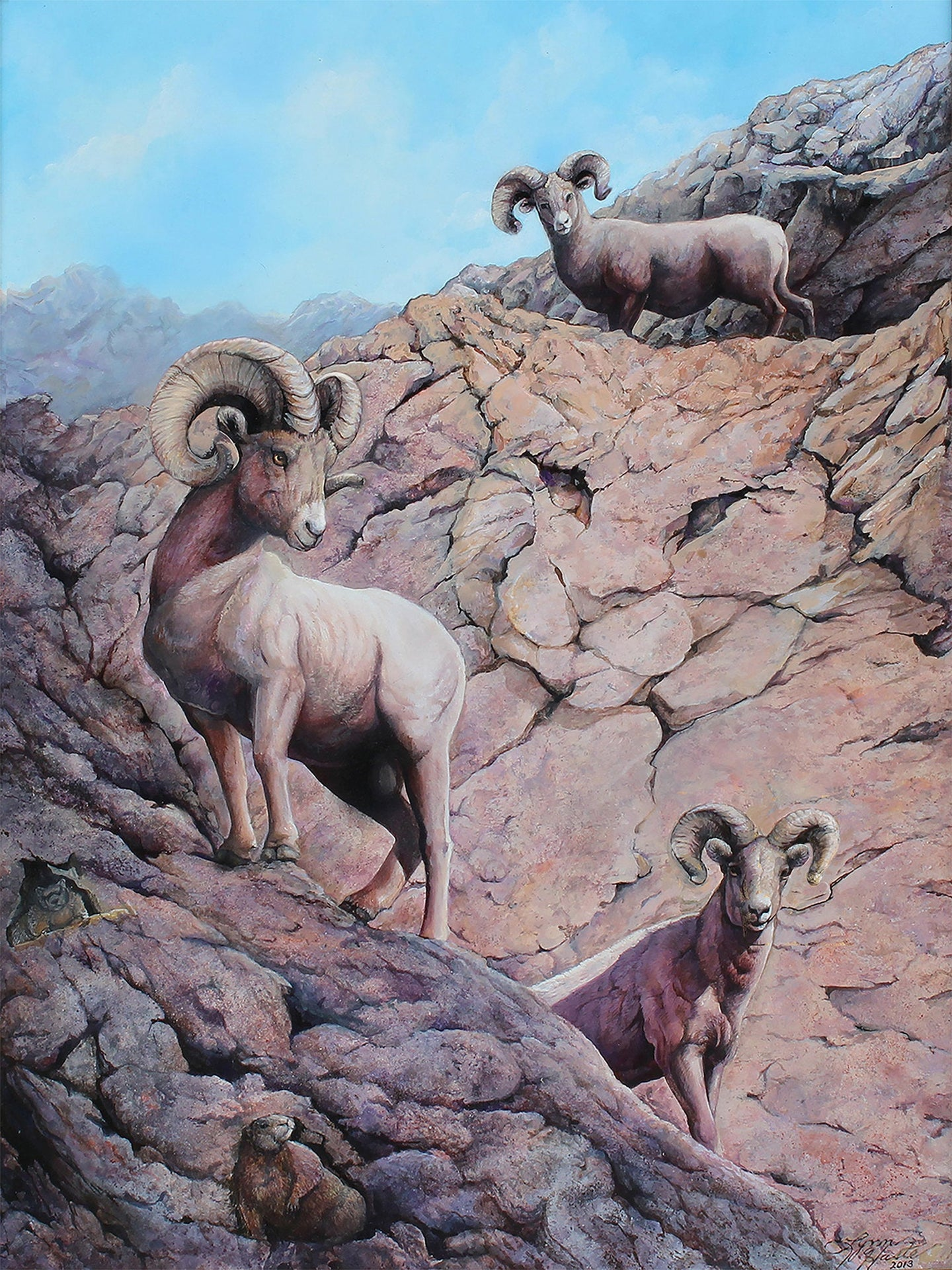 Bighorn Sheep Limited Edition Canvas Print of