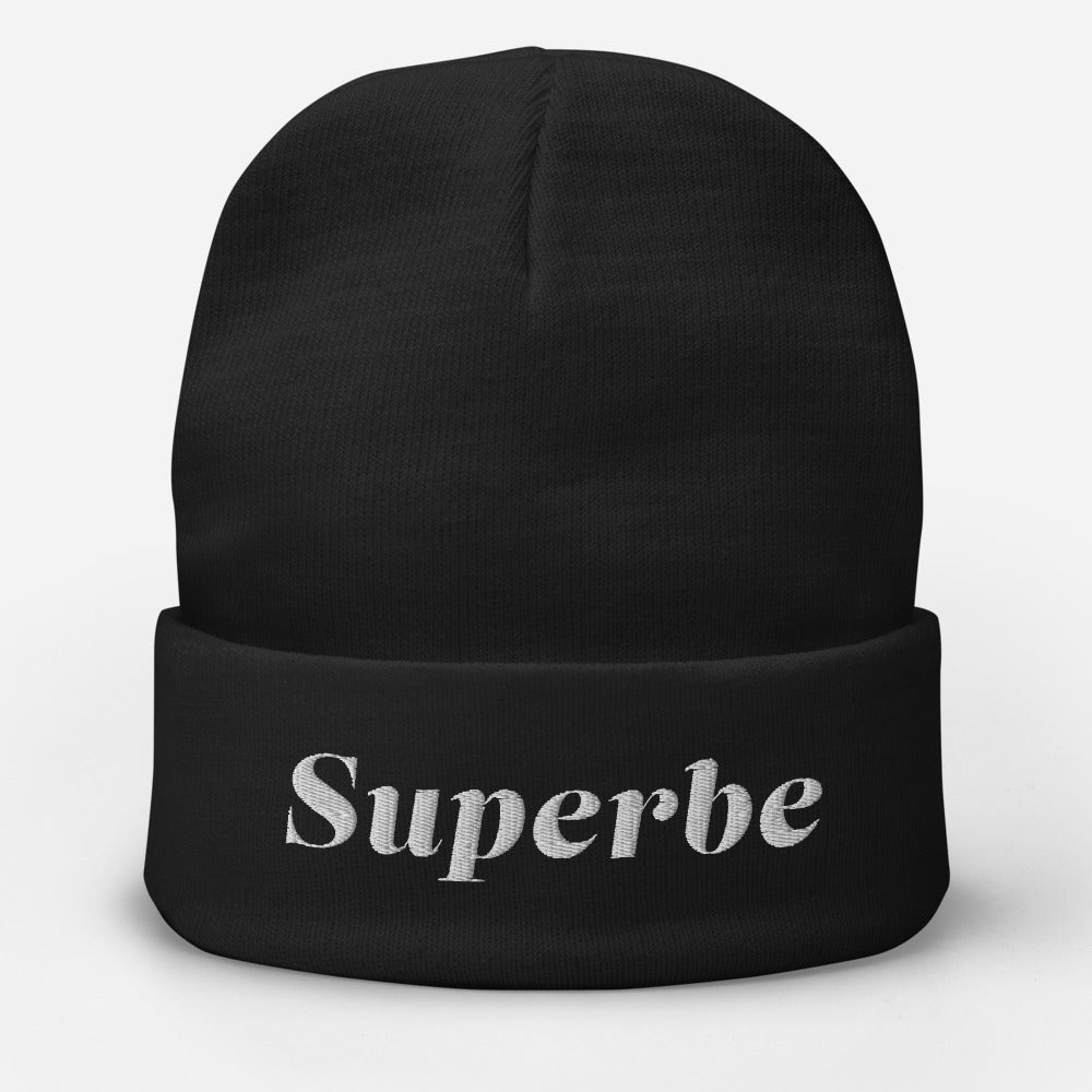 Embroidered Beanie with Superbe Logo