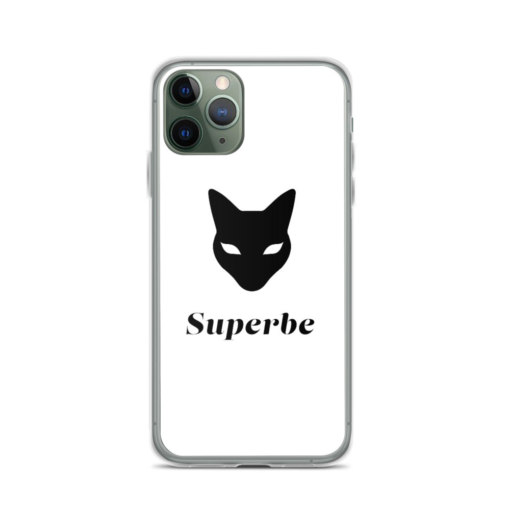 iPhone Case in White with Superbe Logo