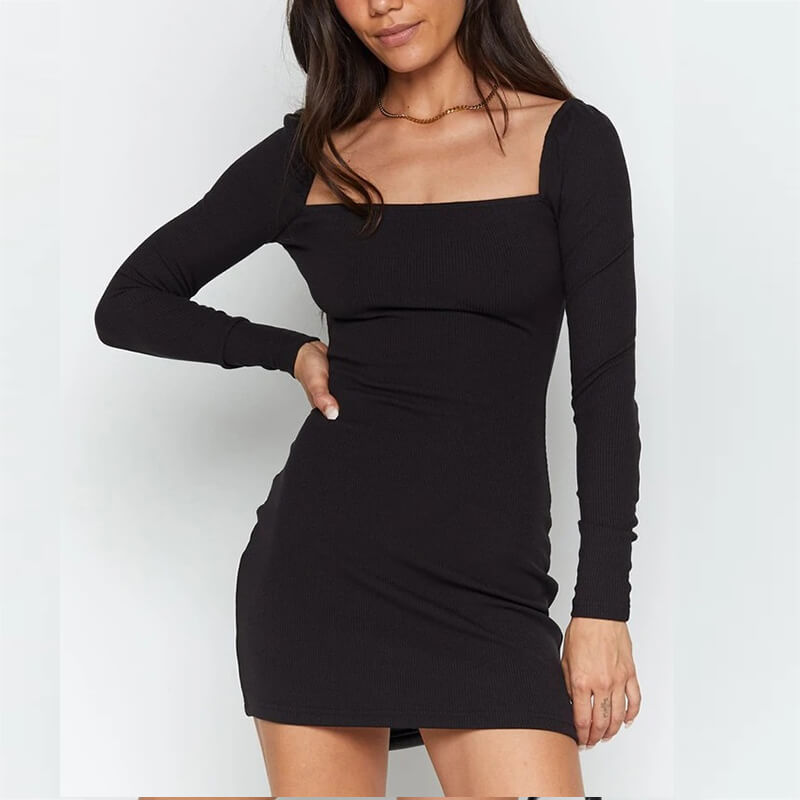 Black Midtown Mini Dress