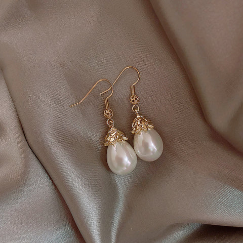 Retro Elegant Long Tassel Pearl Earrings