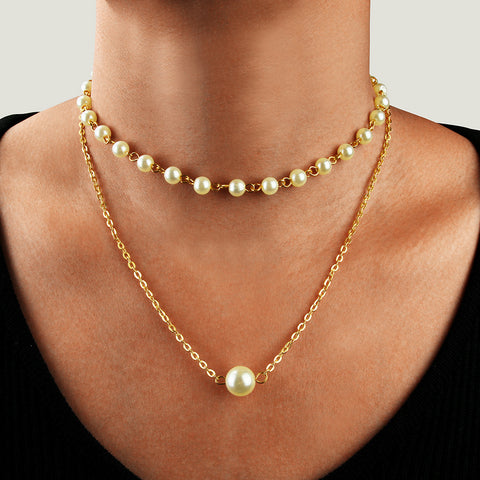 Elegant Pearl Multilayer Necklace