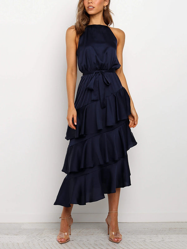 Saldon Ruffle Maxi Dress