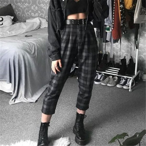 Casual Everyday Plaid Pants