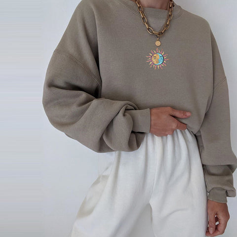 Angela Casual Loose Sweatshirt