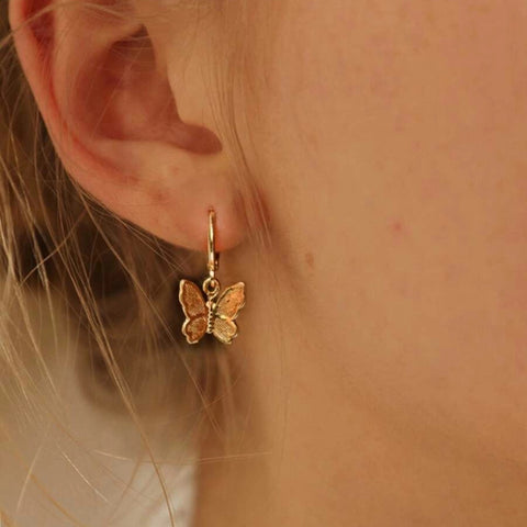 Creative Golden Butterfly Earrings