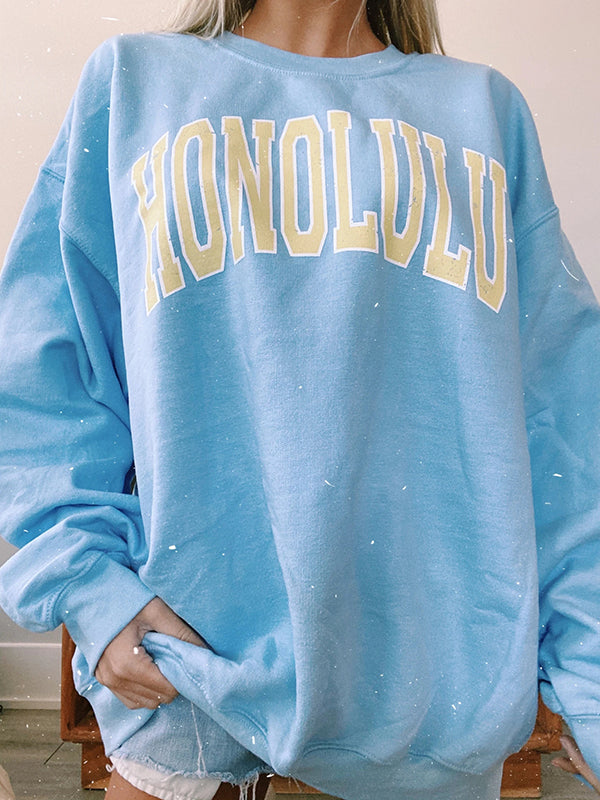 Blue 'HONOLULU' Sweatshirt