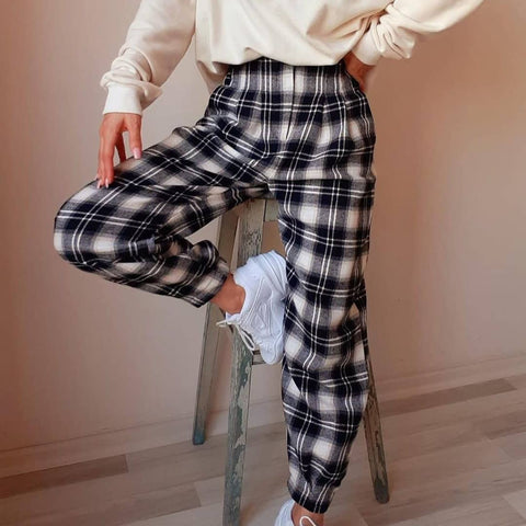 Vintage Check Loose pants