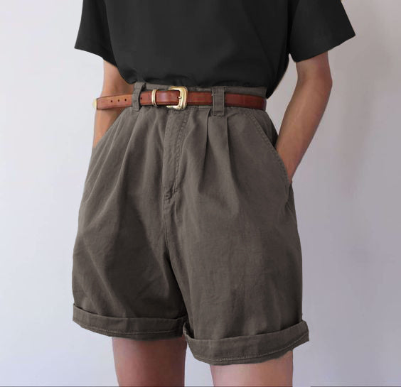 Summer Casual Solid Color Shorts