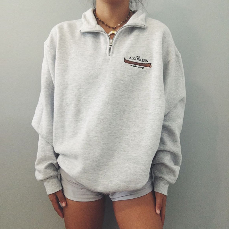 Casual Loose Algonquin Zip Sweatshirt