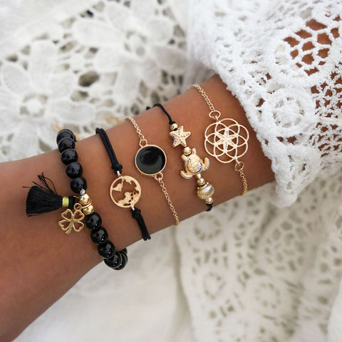 Fashion Woven 5-piece Bracelet