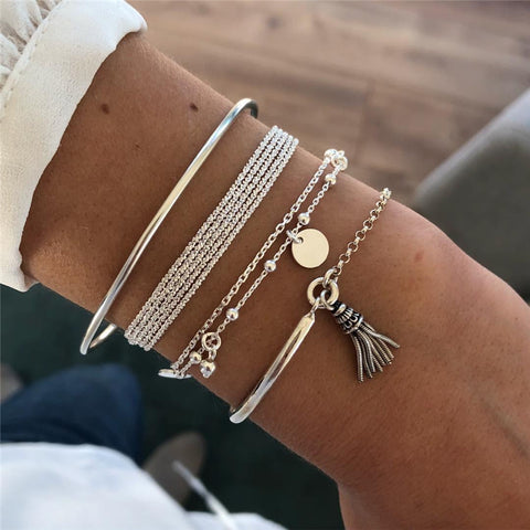 Sweet Fantasies Multi-layer 4 Piece Bracelet