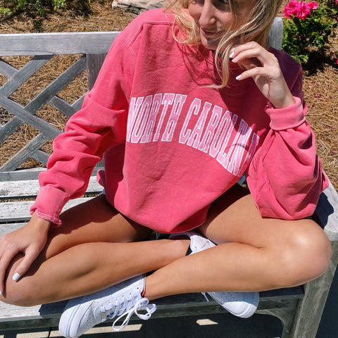 Casual 'NORTH CAROLINA' Sweatshirt