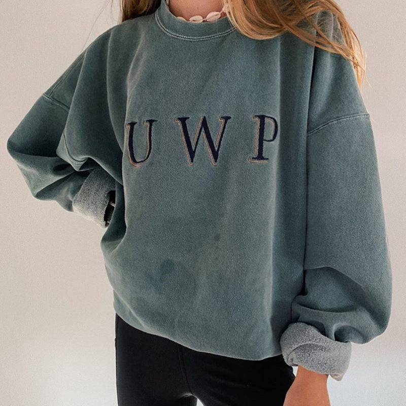 Casual Simple 'UWP' Sweatshirt
