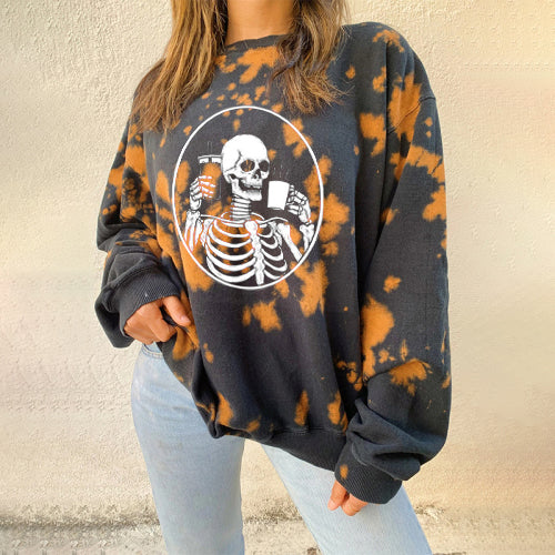 Vintage printed long-sleeve Sweatshirt