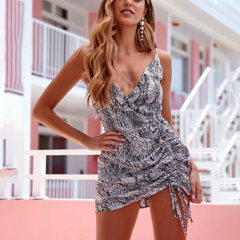 Daria Sling Drawstring Mini Dress