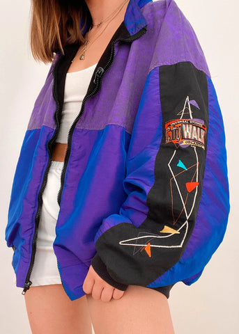 Printed hit color trend all-match jacket