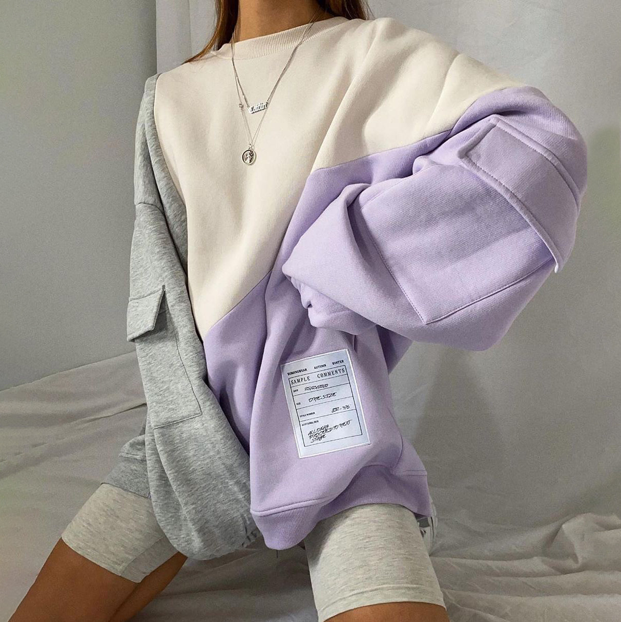 Casual Color-block Sweatshirt