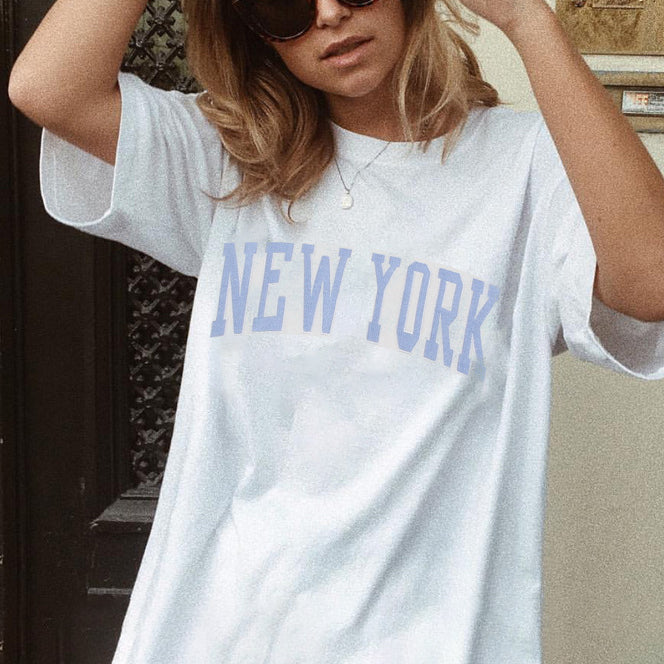 Fashion 'NEW YORK' T-shirt