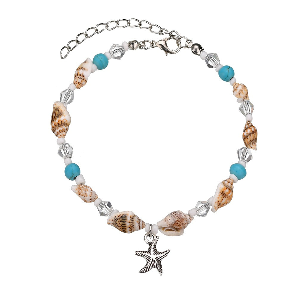 Natural Starfish Shell Beach Anklet