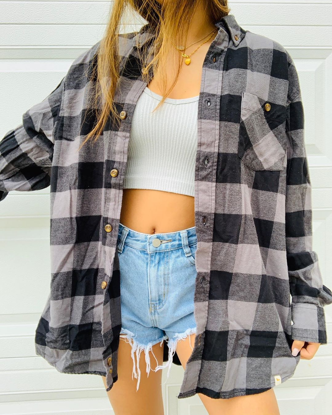 Cornelia casual plaid shirt