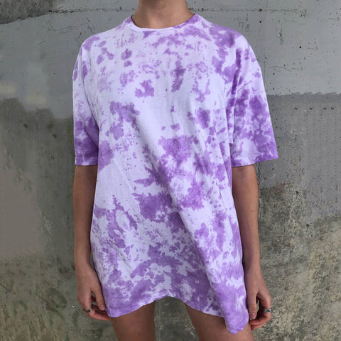 Tie-dye Casual Long T-shirt