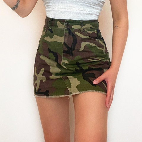 Camouflage Print Skirt