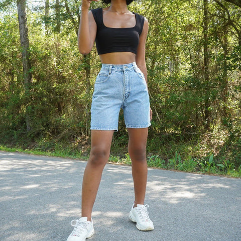 Thelma Denim Shorts - Light Wash
