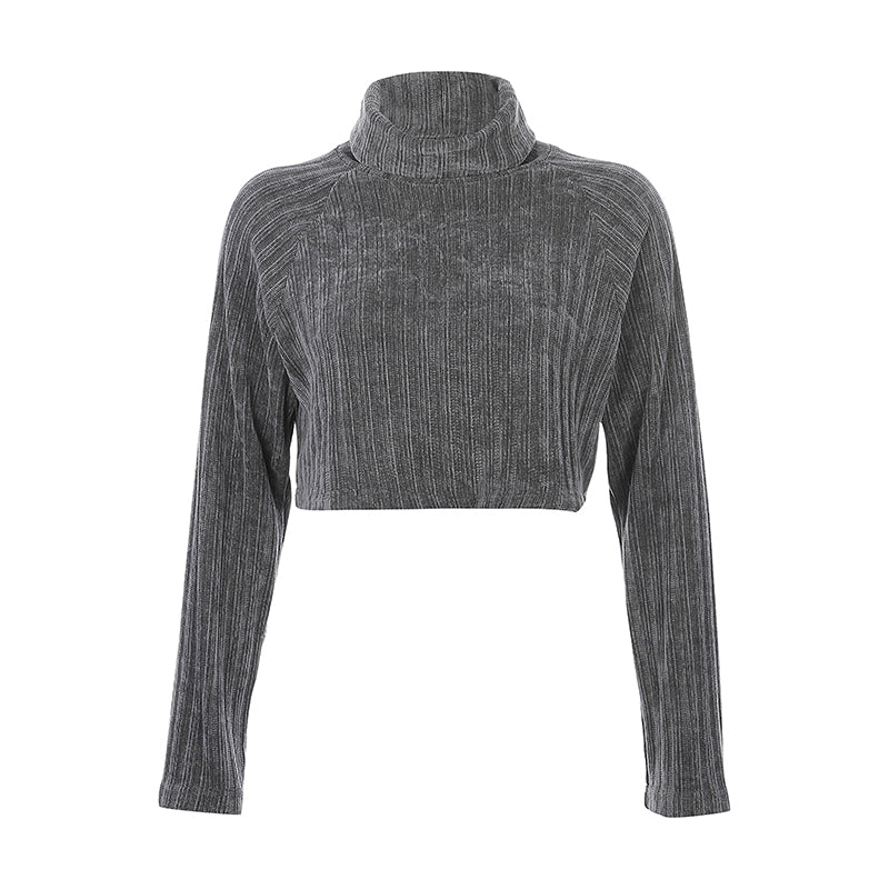 Azra Turtleneck Cropped Sweater