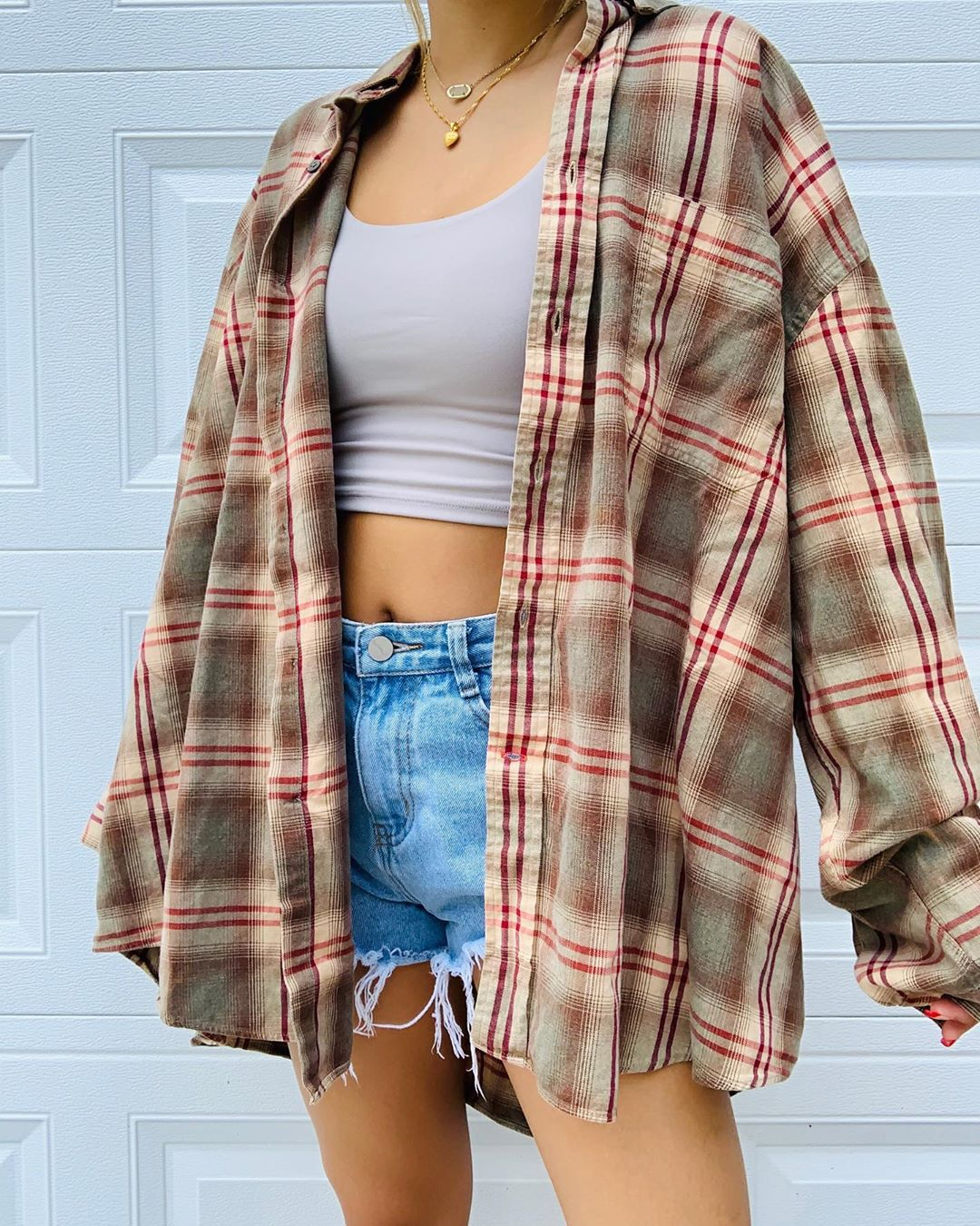 Womens casual plaid shirt