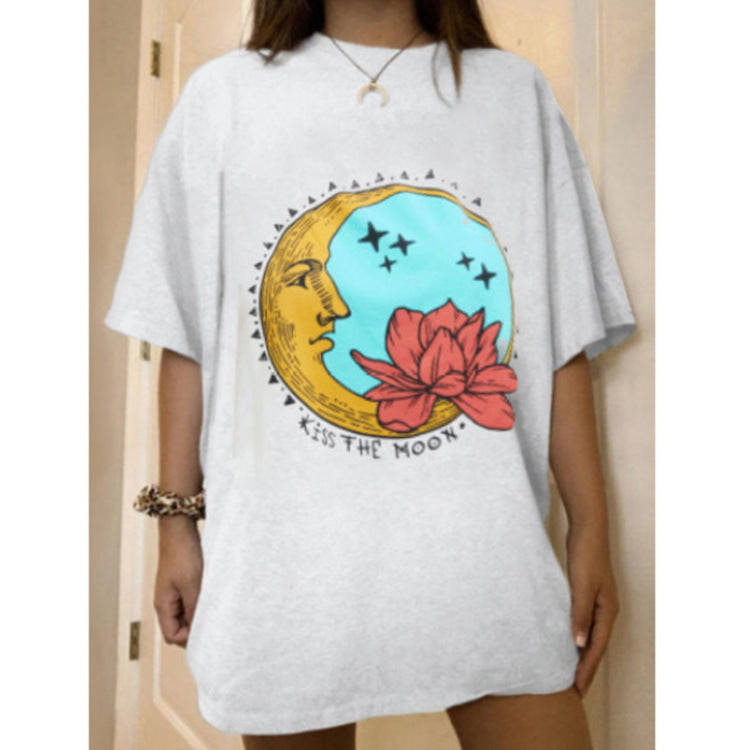 Moon And Flower T-shirt