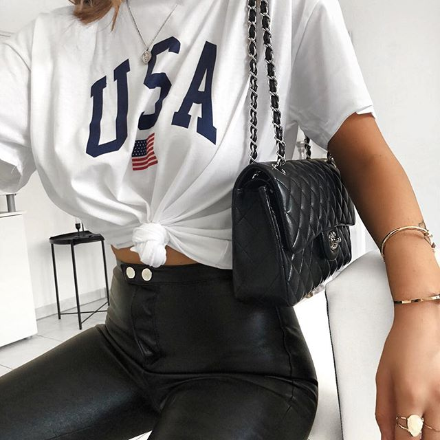 Fashion USA Print Tee