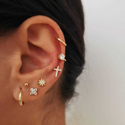 Le Glamour Earrings Combination Set