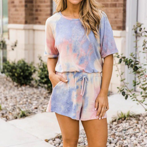 Mindful Morning Tie Dye Romper