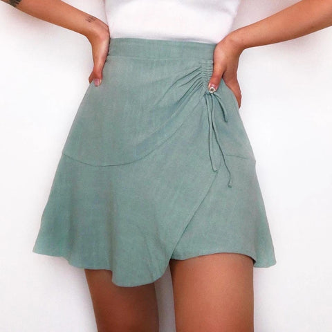 Starlet Cotton And Linen Skirt
