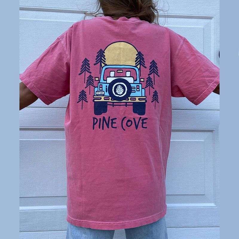 Casual Pine Cove Print T-shirt
